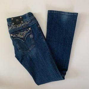 Miss Me Bootcut Jeans 31 Dark bling Long